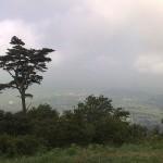 宝篋山の頂上からの眺め