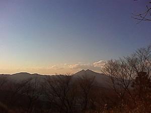 浅間山からの筑波山
